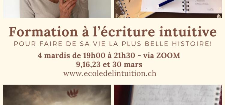 Atelier d'écriture intuitive via Zoom – soirée 4/4